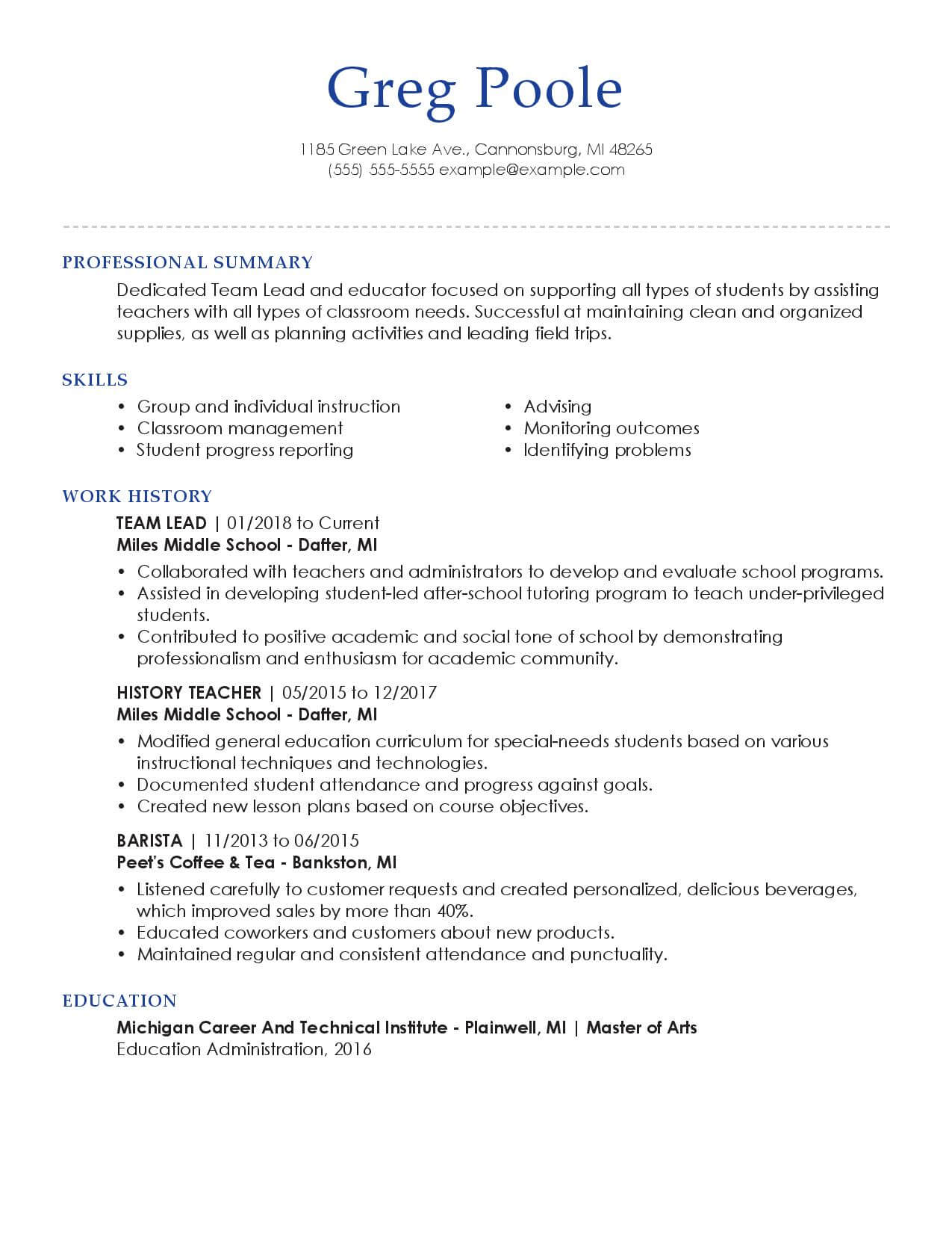 Good Resume Examples For Jobs 30 Resume Examples View By Industry Job Title