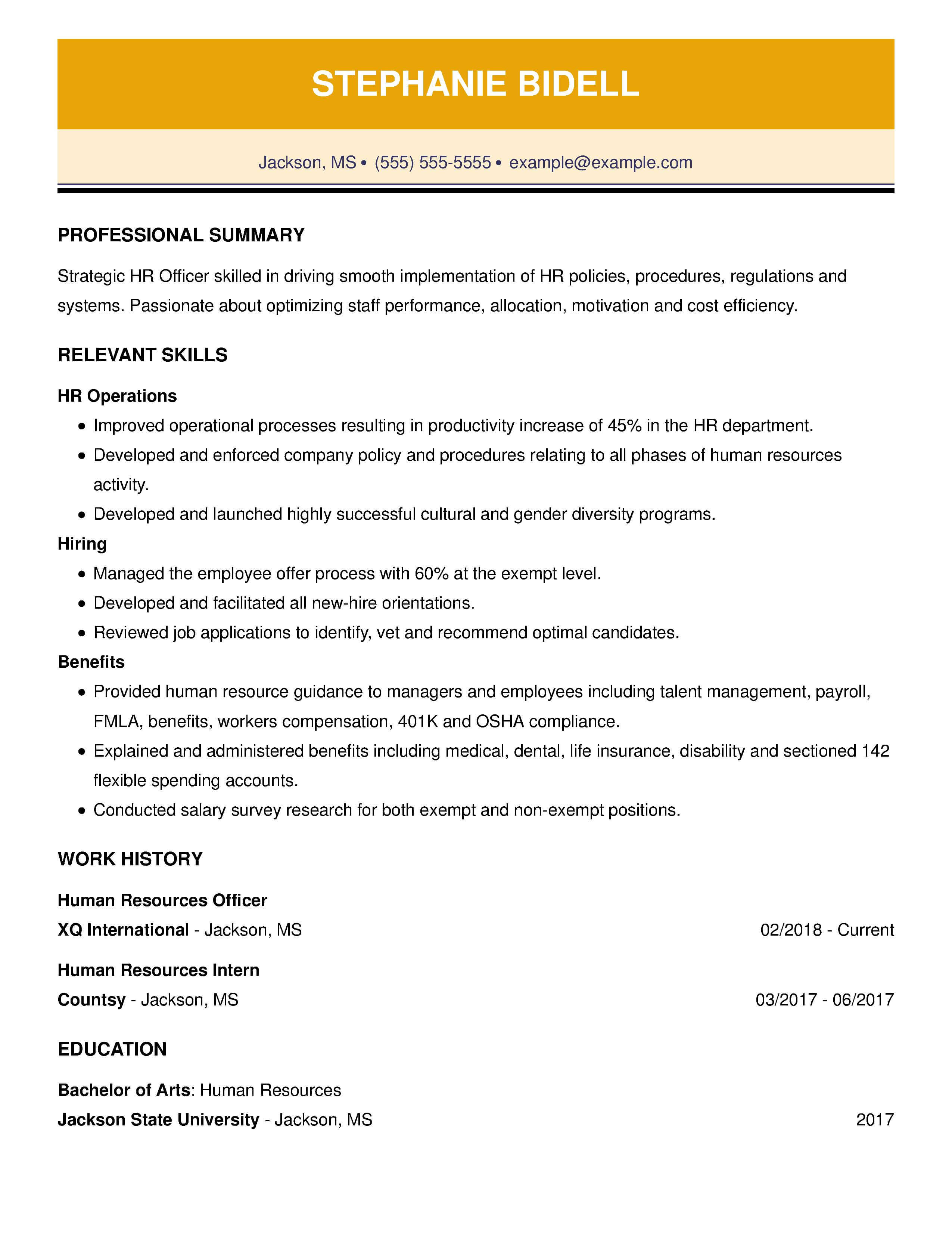 Simple Job Resume Examples 30 Resume Examples View By Industry Job Title