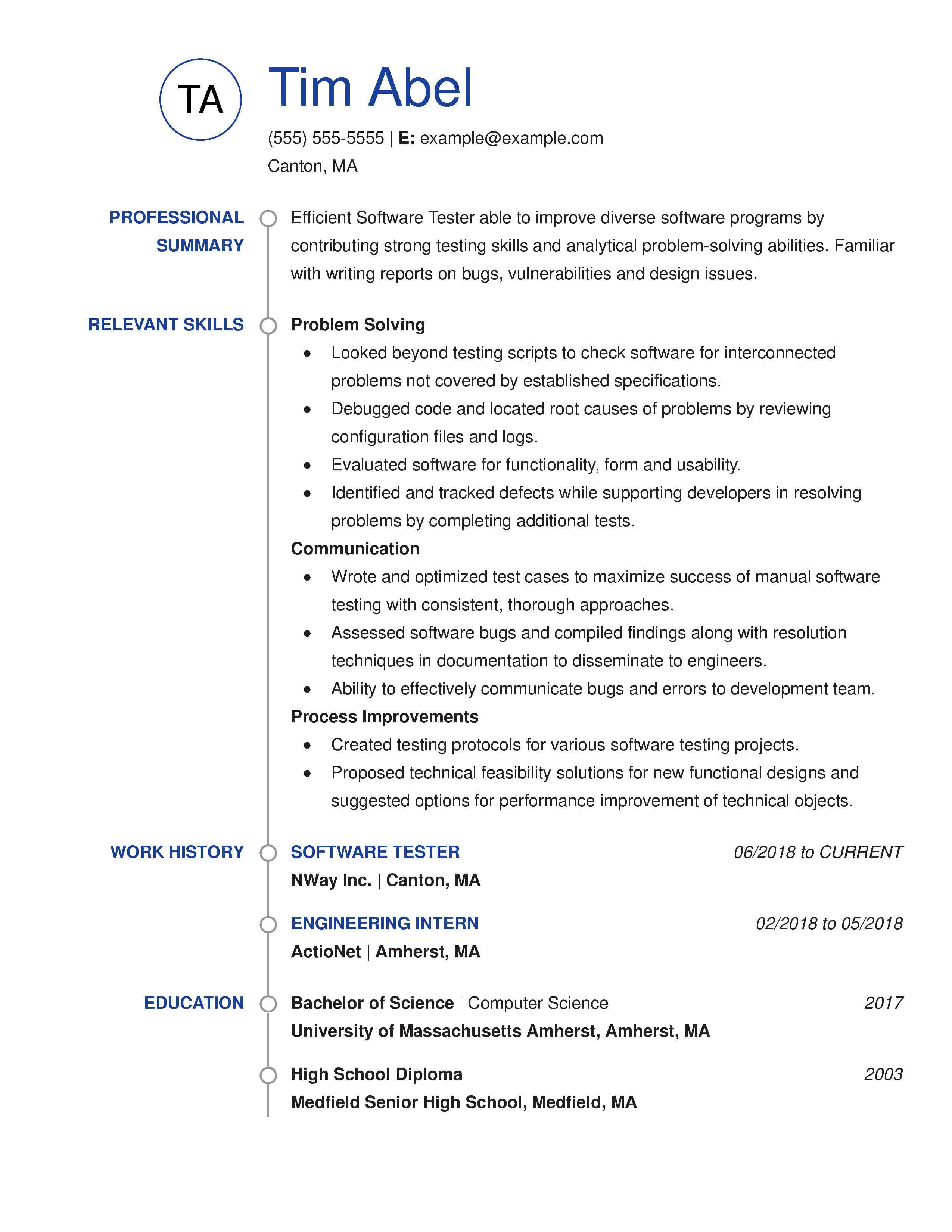 Resume Examples For Free 30 Resume Examples View By Industry Job Title