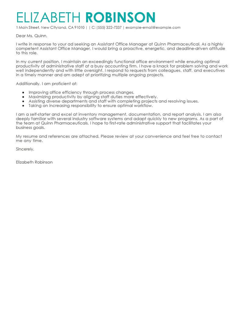 Sample Secretary Cover Letter Best Secretary Cover Letter Examples Livecareer
