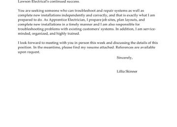Service Electrician Cover Letter | Awesome Collection Of Cover ...