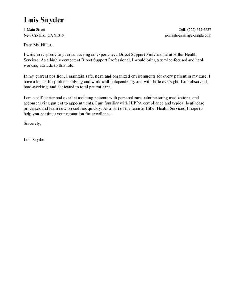 Residential Care Worker Cover Letter | Aged Care Worker Resume Cmt ...