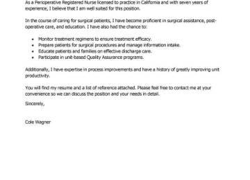 Cover Letters For Nursing | Sample Cover Letter For Nursing ...