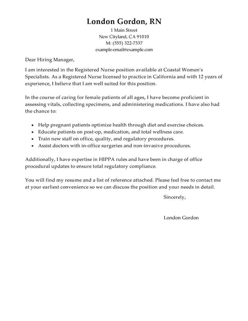 Sample Nurse Cover Letter Cover Letter For Nursing Position Koran Sticken Co