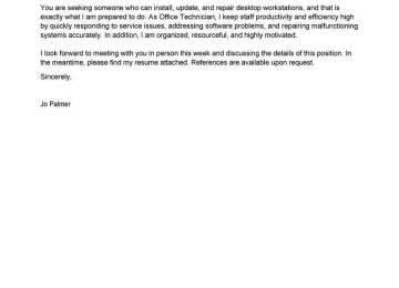 Technician Cover Letter Sample | Cover Letter Sample Administrative ...