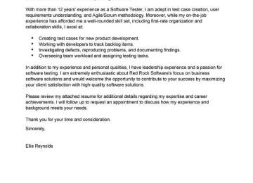 Test Analyst Cover Letter | Analyst Cover Letter Graduate Coursework ...