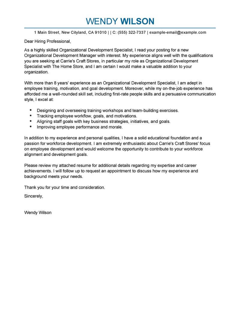 Branch Supervisor Cover Letter Best Management Shift Leader Cover Letter Examples Livecareer