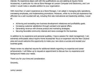 best store manager cover letter examples livecareer sample advertising account