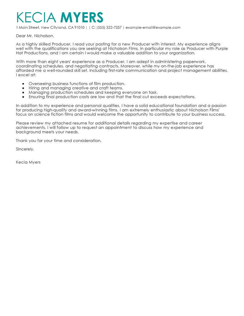 Clear Channel Account Executive Cover Letter Best Media Entertainment Cover Letter Examples Livecareer