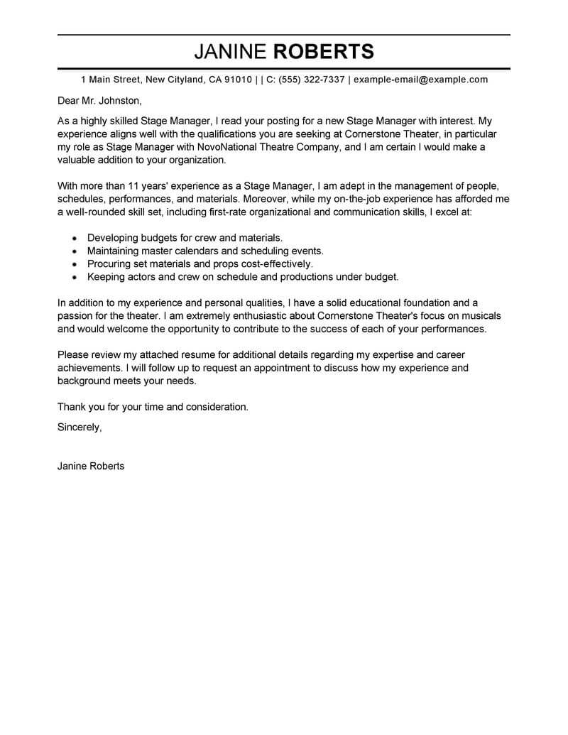 Cover Letter For Case Manager Position Best Supervisor Cover Letter Examples Livecareer