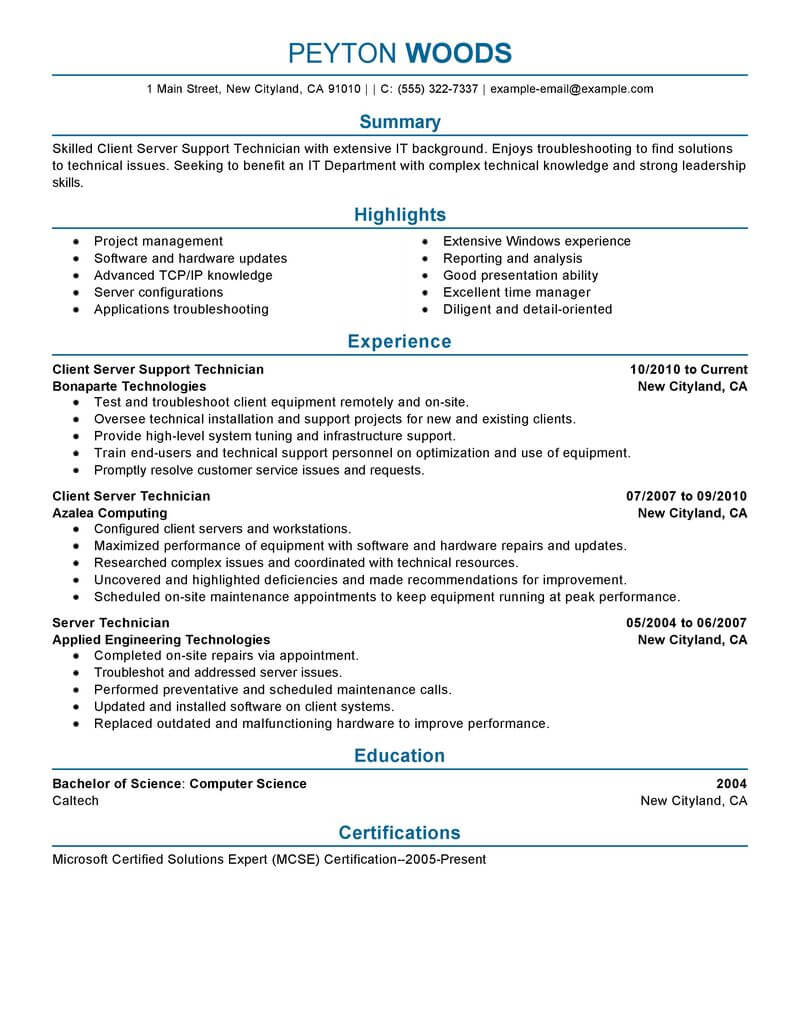 Nice Resume Examples 11 Amazing It Resume Examples Livecareer