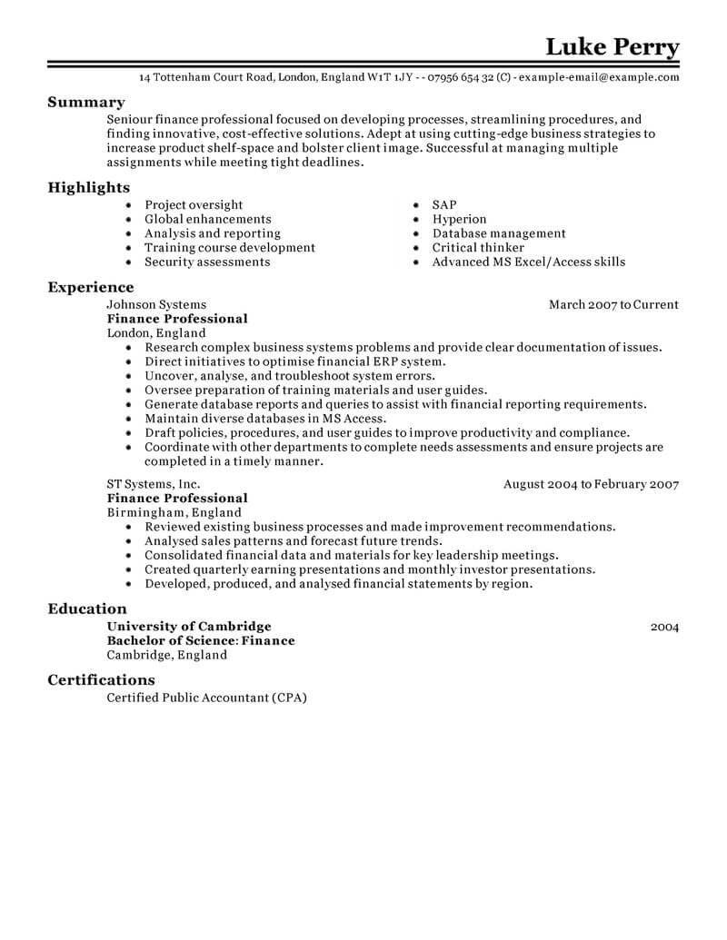 Commercial Banker Resume Banking And Financial Services Resume Template For Microsoft Word