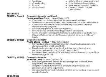 Sports Instructor Cover Letter | How To Write A Cover Letter