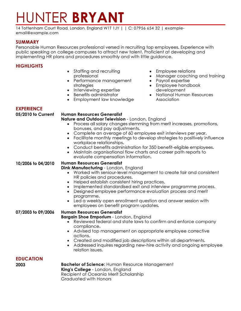 Resume And Cv Samples Artistic Cv Template And Writing Guidelines Livecareer