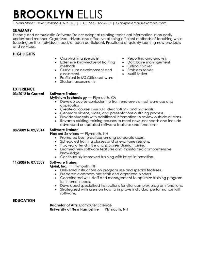 How To Write A Resume Examples 11 Amazing It Resume Examples Livecareer