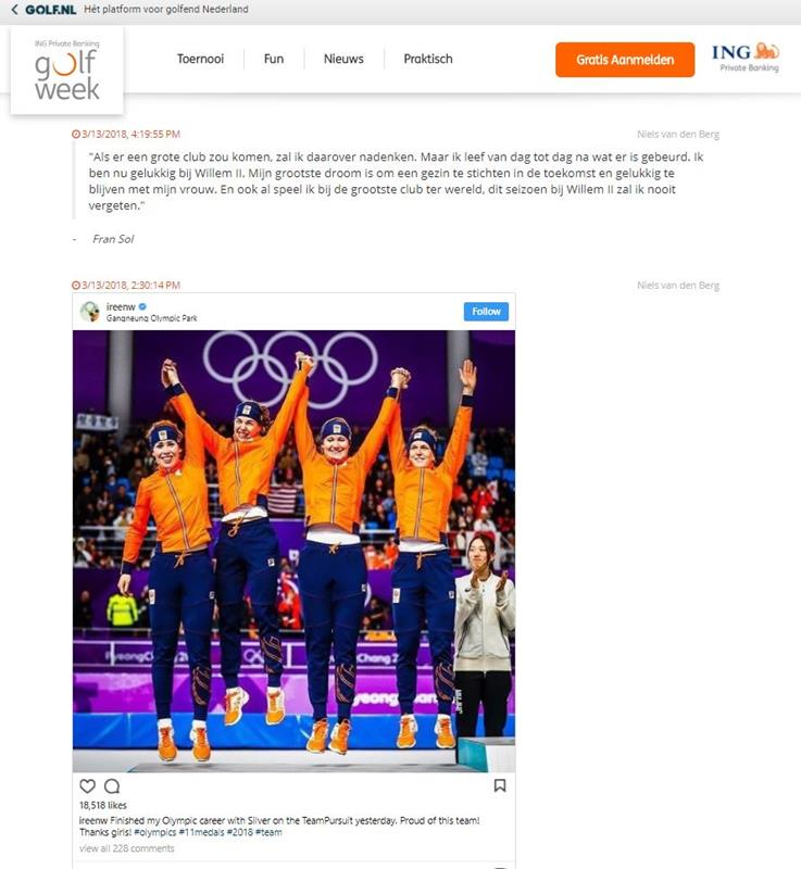 Winter Olympics Live blog