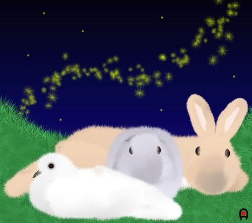みんなでおやすみ〜。
