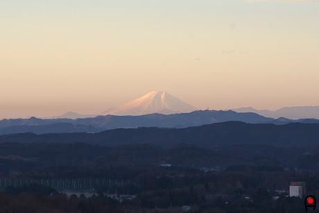 栃木県から見る富士山の写真