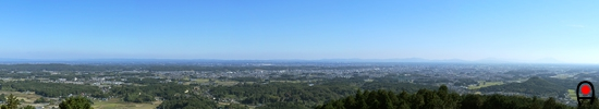 多気山から宇都宮市街地方面の眺め
