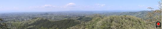 御嶽山山頂からの眺めの写真