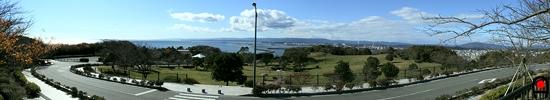 三崎公園(福島)のマリンタワー付近からの眺めの写真