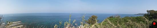禄剛崎灯台からの眺め