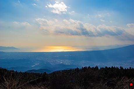 三国峠から駿河湾の写真