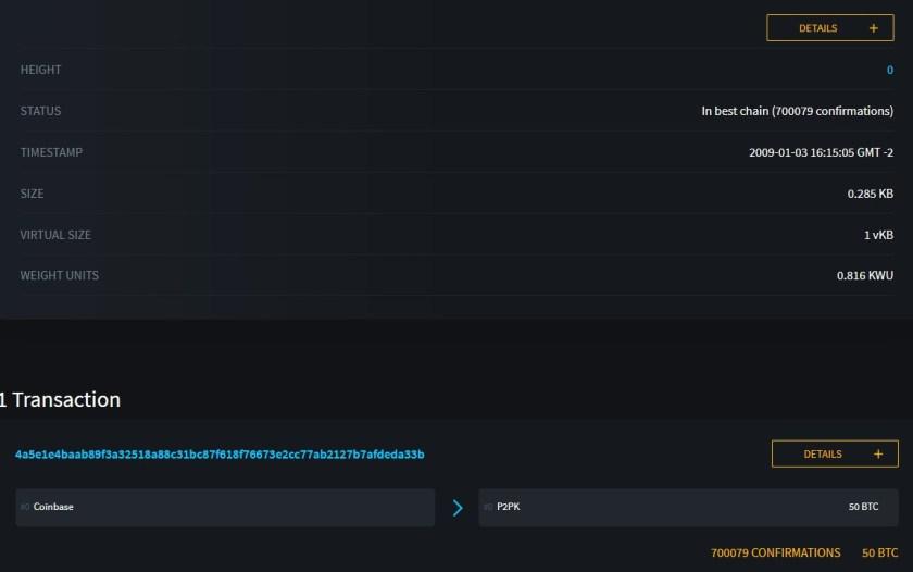 Bitcoin Block 0, or Genesis