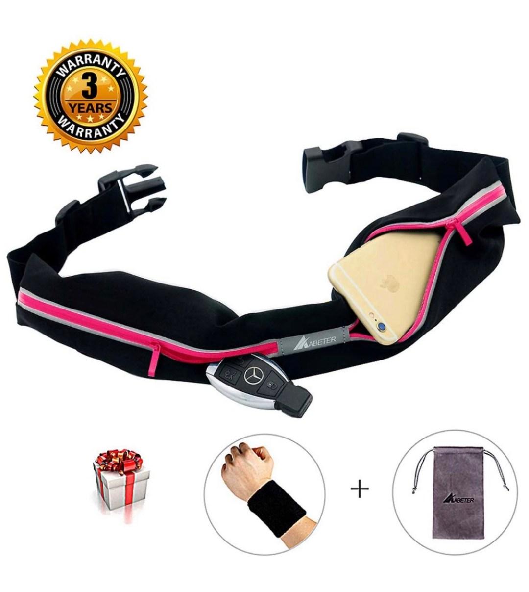 Waterproof Running Belt With Pockets