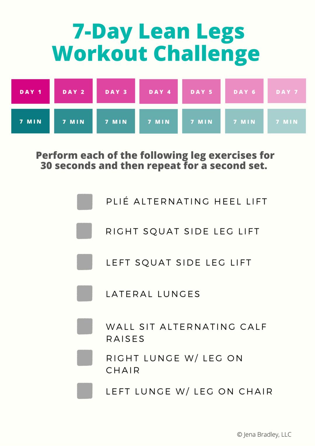 7-Day Lean Legs Challenge-7 Minute Leg Workout