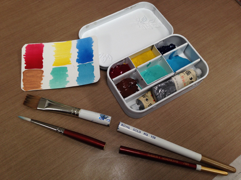 mini watercolor box