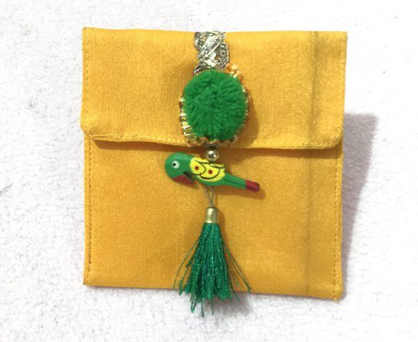 Yellow parrot small shagun envelop