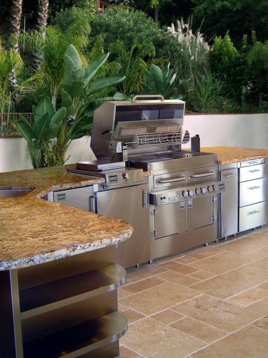 outside kitchen designs plastic cabinets outdoor ideas dan330 sharing