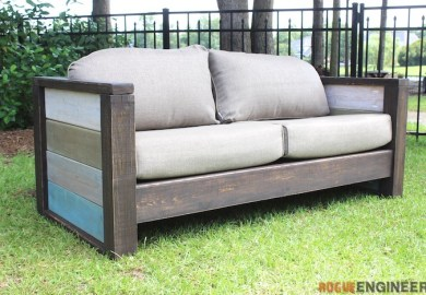 Diy Patio Furniture Plans Sofa Loveseat
