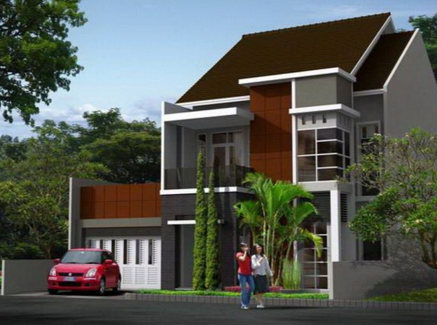 10+ Gambar Tampak Depan Desain Rumah Minimalis 2 Lantai