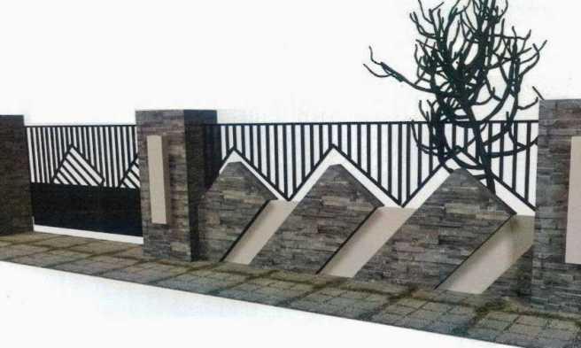 Galeri Pagar Rumah Mewah  ini dia desain model pagar rumah minimalis paling unik 2020