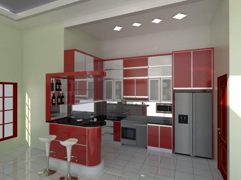 model kitchen set minimalis 24  Desain Rumah Minimalis