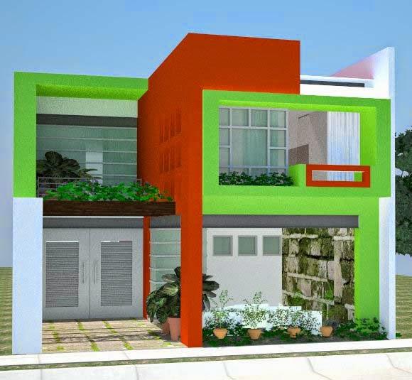 Warna Cat Rumah Minimalis Ruko contoh warna cat rumah minimalis tampak depan 2020