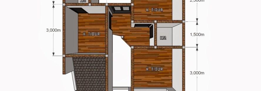 Desain Rumah Minimalis Ukuran 6x8  8 denah rumah 3 kamar ukuran 7x9 paling dicari