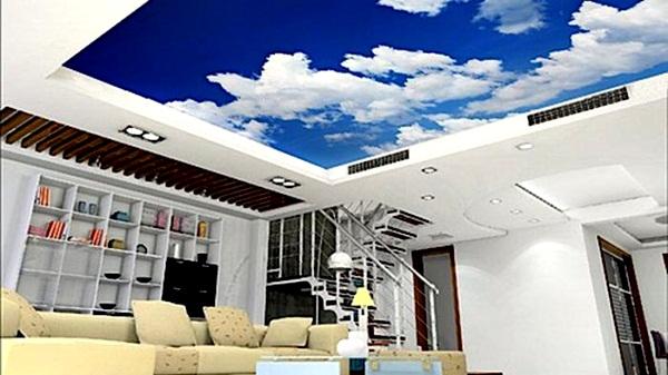 Model Plafon Ruang Tamu Sederhana berhias langit  Desain Rumah Minimalis