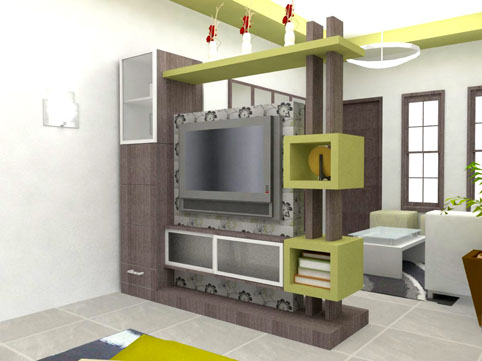 Lemari Hias Ruang Tamu Modern  Desain Rumah Minimalis