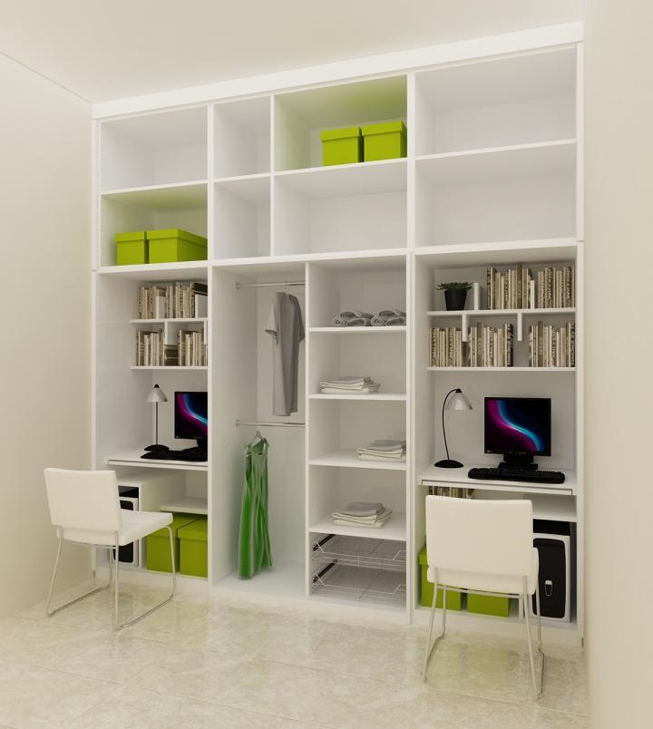 Lemari Sekat Ruang Tamu Sederhana