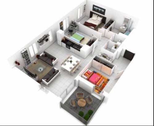100 Contoh Gambar Denah Rumah Modern Minimalis