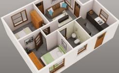 denah rumah minimalis 3 kamar tidur type 36 9