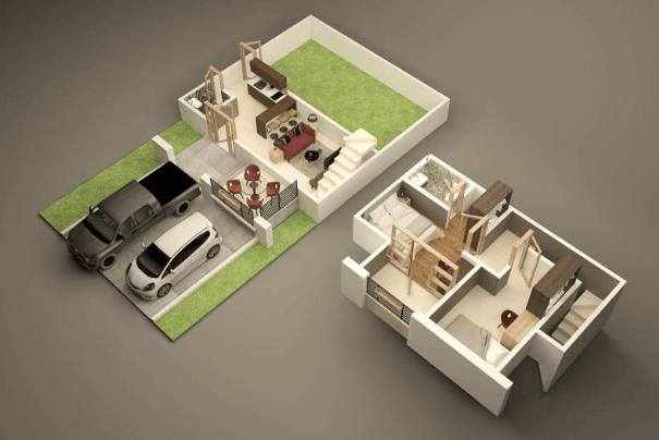 Permalink to 100+ Denah Rumah Sederhana Modern Minimalis Terbaru
