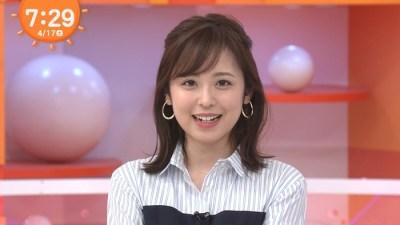 久慈暁子アナの胸