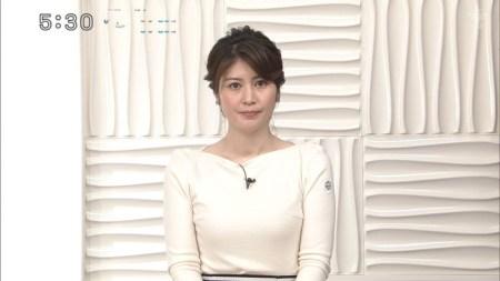 鈴江奈々アナの胸