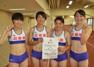 女子陸上選手の筋肉