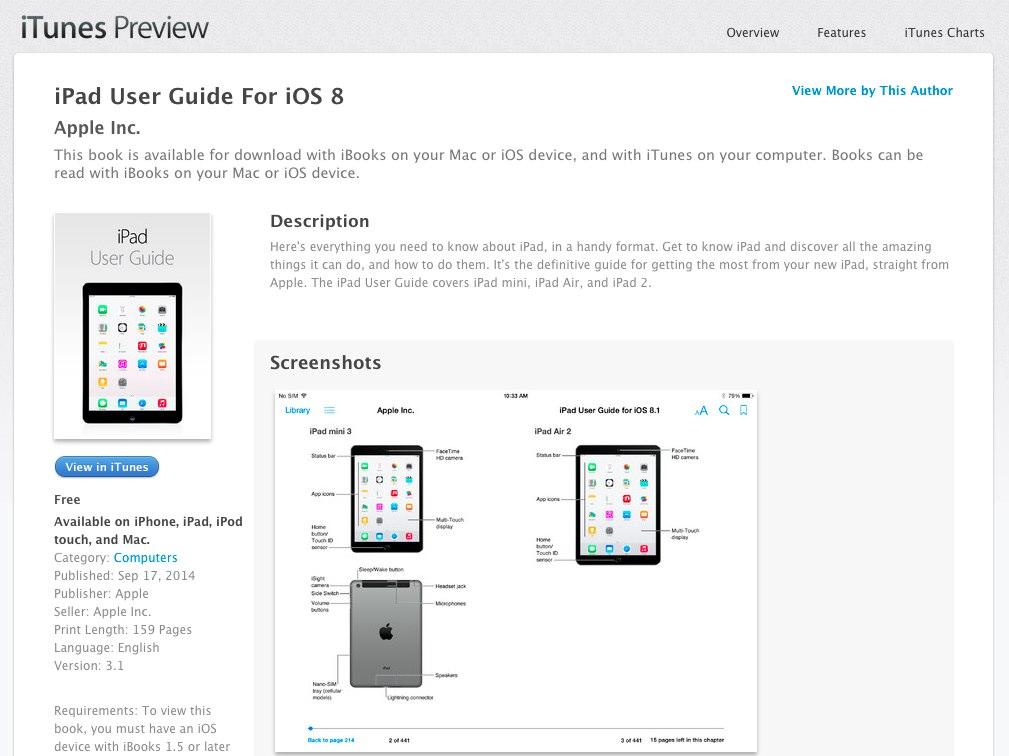 Apple、iPad Air 2とiPad mini 3の記載がされたユーザーガイドを一時公開。Touch IDと