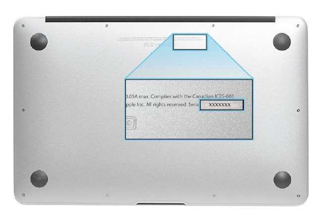 MacBook Air Mid 2012のシリアル番号の調べ方